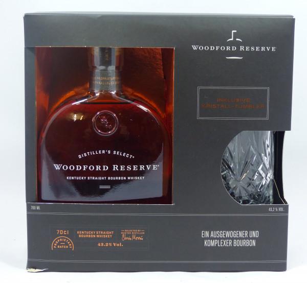 Woodford Reserve Bourbon GP mit Kristallglas-Tumbler