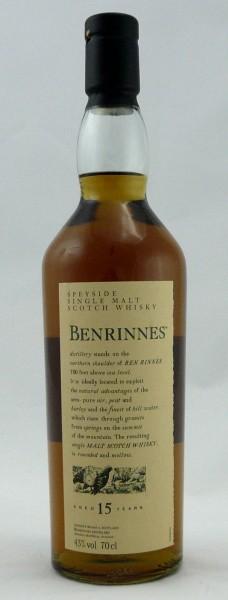 Benrinnes 15 years Flora & Fauna 2005 Bottling