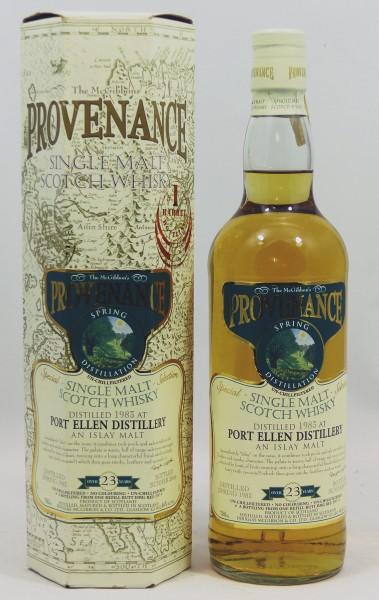Port Ellen 23 Jahre 1983/06 Douglas McGibbon Provenance