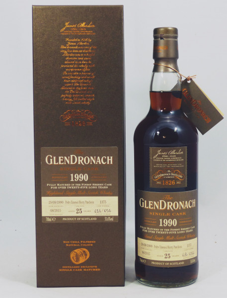Glendronach 25 Jahre 1990 Pedro Ximénez Single Cask 1375