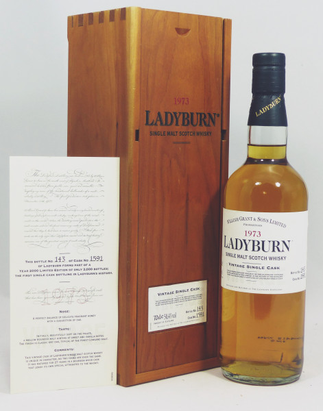 Ladyburn OB Vintage 1973 b. 2000 Single Cask 1591