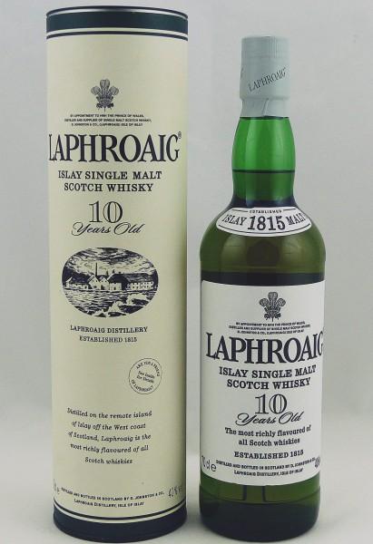"""Laphroaig 10 Jahre, ältere Abfüllung """"1815"""" Neck-Label"""