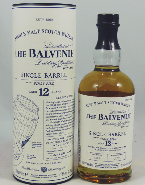 Balvenie 12 Jahre Single Barrel First Fill Cask No. 8215