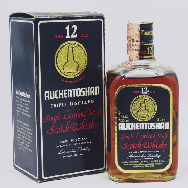 Auchentoshan 12 Years old Square Bottle 80's