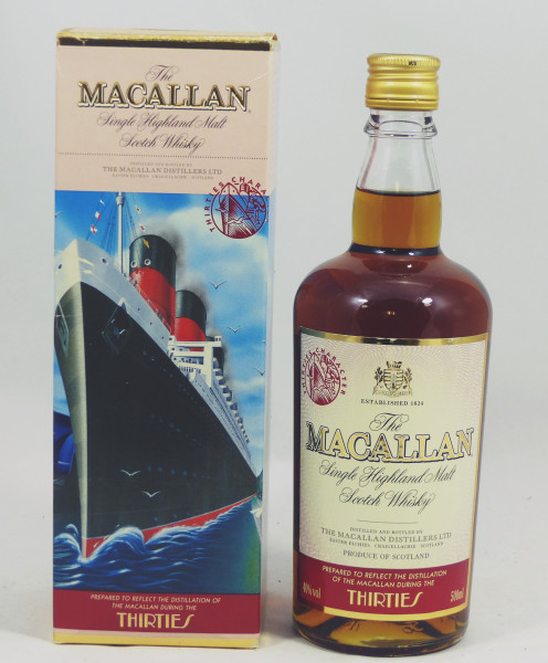 Macallan Travel Series Thirties with Screw Cap & Character Stamp
