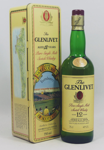 Glenlivet 12 Jahre Pure Malt - Classic Golf Courses of Scotland - Turnberry TIN