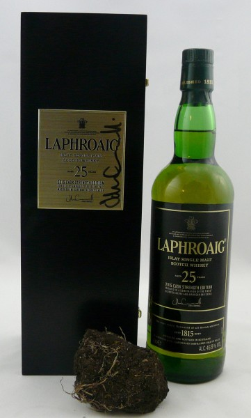 Laphroaig 25 Jahre limited Edition 2015 Cask strength Signature J. Campbell