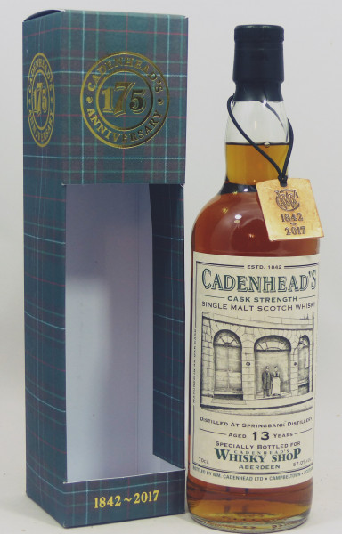 Springbank 13 years 2003 Sherry Butt 175th Anniversary W. Cadenhead