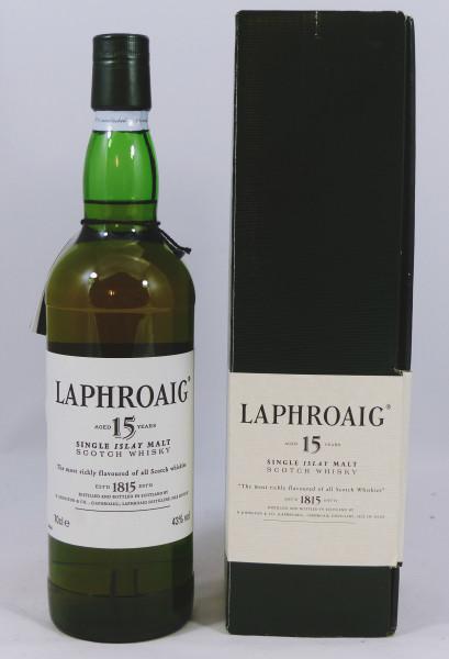 Laphroaig 15 Jahre eckige Box - old Style