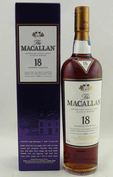 Macallan 18 Years 1993 Sherry Oak matured