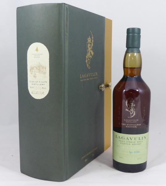 Lagavulin Distillers Edition 2001 b. 2017 in Geschenkbox mit 2 Tasting Gläsern von Lagavulin