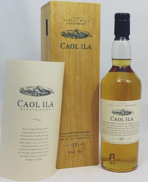 Caol Ila 15 Jahre Flora und Fauna Wooden Box