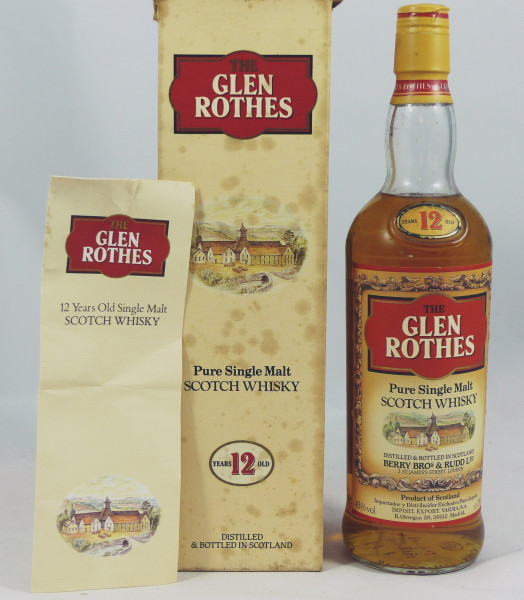 Glenrothes Glen Rothes 12 Years pure Malt Berry Bros & Rudd 80's