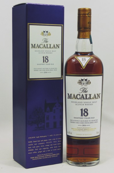 Macallan 18 years Annual 2016 Release