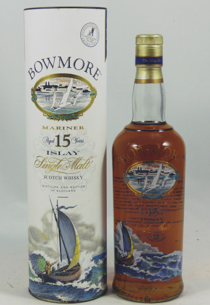 Bowmore Mariner 15 Jahre Glass printed label 70cl