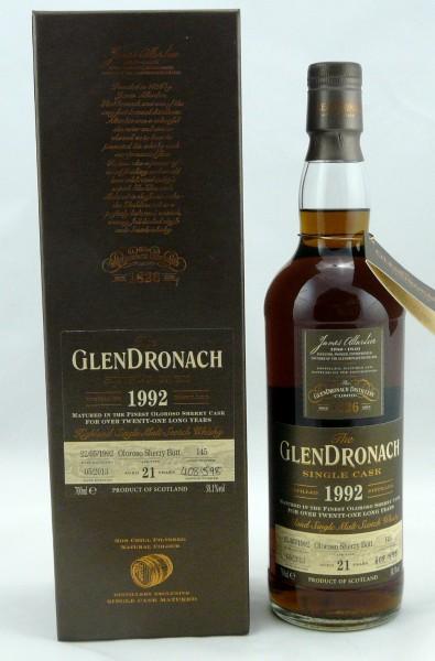 Glendronach 21 Jahre 1992 Cask 145 Oloroso Sherry Butt