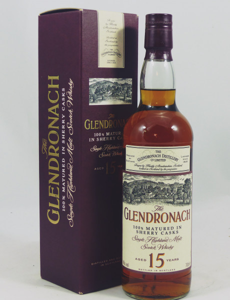 Glendronach 15 Jahre old Style 100% matured in Sherry Casks