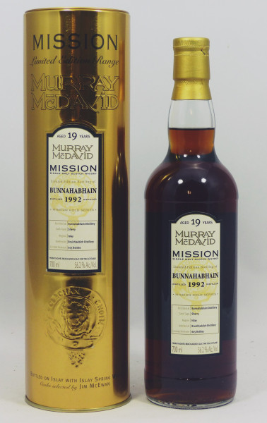 Bunnahabhain 19 Years 1992 MM Mission Gold Series - Dark Sherry