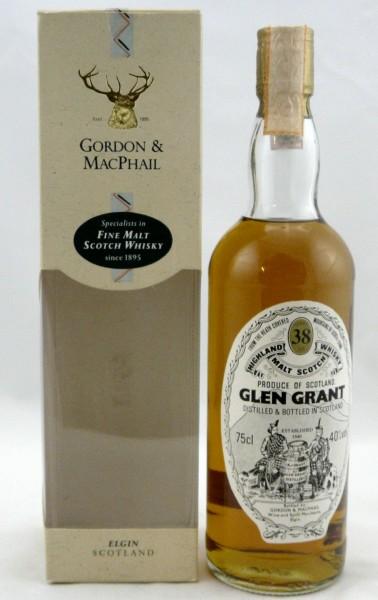 Glen Grant 38 years G&M Licensed Bottling - Sestante Import
